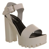 Shoe the Bear Coco Heel White Leather - High Heels