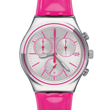 Swatch Irony Chrono PROUD TO BE PINK Watch YCS587