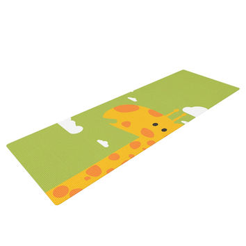 "Strawberringo ""Baby Giraffe"" Green Yellow Yoga Mat"