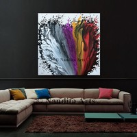 """Original Abstract Painting color full Heart shape Modern Art Original Painting  Modern Fine Art Contemporary Art by Nandita 48/48""""/122x122cm"""