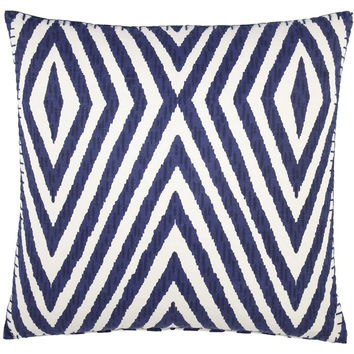 Khiva Indigo Decorative Pillow by John Robshaw