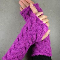 fingerless gloves fingerless mittens long arm by piabarile