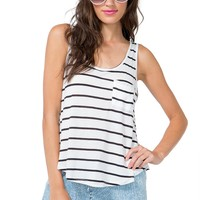 In Contrast Zip Stripe Tee