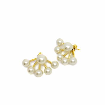 Pearl Ear-Jackets Earrings