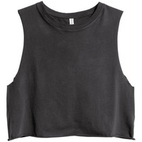 Short sleeveless top - from H&M