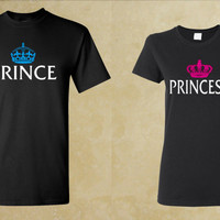 Prince & Princess - Couple Shirts - Tshirt COUPLE FOREVER