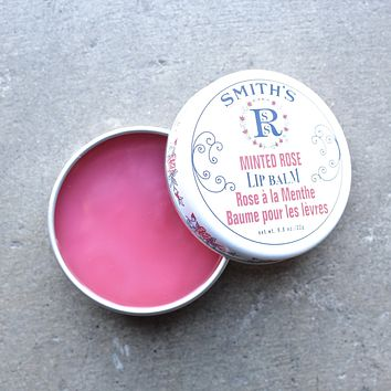 Smith's minted rose lip balm