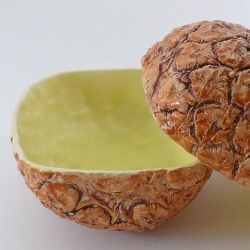Pair of Pineapple Bowls by vegetabowls on Etsy