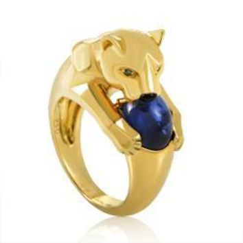 panther axxr head il yellow white double cartier ring jaguar etsy gold rose market and