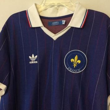 Sale!! Adidas FRANCE Soccer Jersey Vintage Football shirt #10 Zidane Size XL Free ship