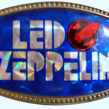 vintage LeD ZePPELiN rock band BeLT BuCKLE 70s sparkle