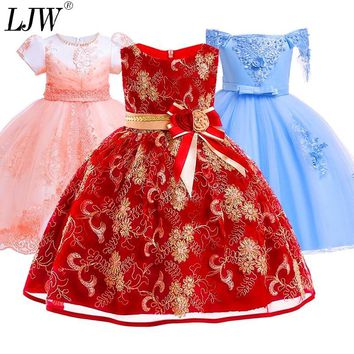 12yrs New baby Big bow tutu princess dress for girl elegant flower birthday party girl dress Baby girl's christmas clothes 1