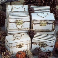Rustic Personalized Engraved Wedding Favor Boxes As by GoRustic