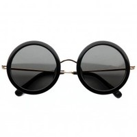 the row - 8c1 round oversized framed sunglasses (black) - The Row | 80's Purple