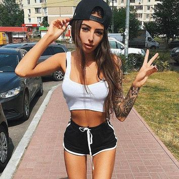PEAP78W 2017 Summer Sexy Fashion Shorts women lace up pole dance bermuda feminina causal Breathable pantalones cortos mujer