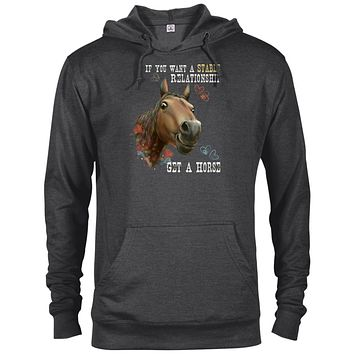 Horse Hoodie, Funny Horse Gift, If You Want A Stable Relationship Get A Horse