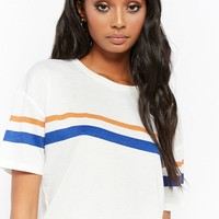 Slub Knit Multicolor Striped Tee