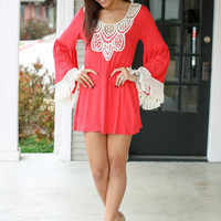 Mackenzie Dress - Coral