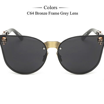 Reflective Stereo Flowers Sunglasses