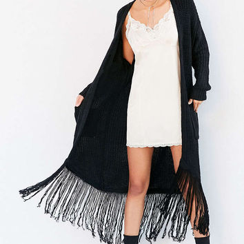 ASTR Frances Fringe Duster Cardigan - Urban Outfitters