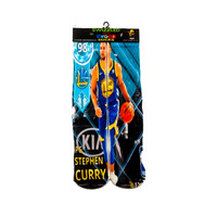Golden State Warriors Stephen Curry blue gold Uniform Basketball Socks