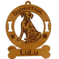 3045 Dalmatian Pup Sitting Ornament Personalized with Your Dog's Name
