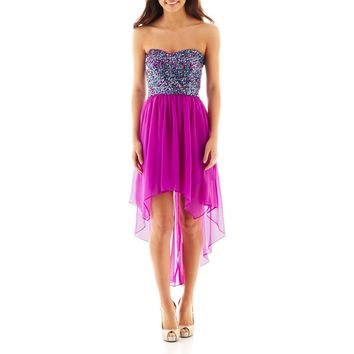 jcpenney - MXI Strapless Sequin High-Low Dress - jcpenney