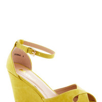 Pretty Possibilities Wedge in Custard | Mod Retro Vintage Wedges | ModCloth.com