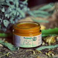 Organic Rejuvenative Balm for Scars, eczema, psoriasis, stretch marks. Vegan. With Rosehip seed, Cocoa butter, Sea Buckthorn & Tamanu