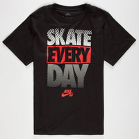 Nike Sb Skate Every Day Boys T-Shirt Black  In Sizes