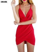 2016 New Vestidos Dress Women Summer Dress Casual Skinny Sexy&Club Hollow Out Mini Dress Sleeveless V-neck Beach Femme Dress