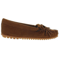 Minnetonka Kilty - Dusty Brown Suede Moccasin