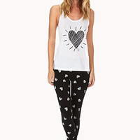 FOREVER 21 Spread Love PJ Set