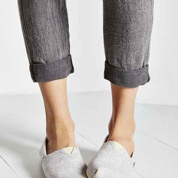 TOMS Classic Woolen Sherpa Slip-On Shoe- Grey