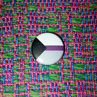 Demisexual Pride Flag Button or Magnet