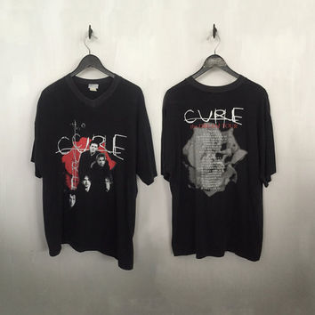 the Cure shirt vintage t shirt band t-shirts the Dream tour concert tees vintage band shirt vneck tshirt xl t-shirt x-large