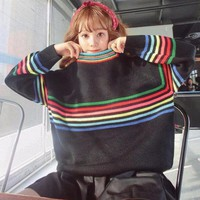 RAINBOW STRIPES SWEATER [2974244328]