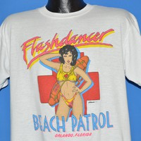 80s Flashdance Beach Patrol Orlando Club t-shirt Large