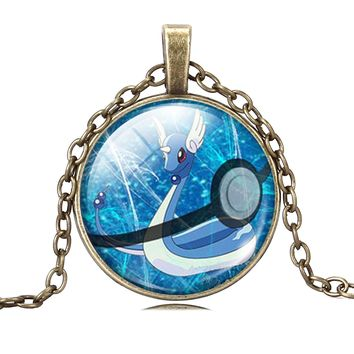 Pokemon Dragonair Pendant Pokemon Charm Necklace