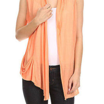 Summer Light Thin Flyaway Shawl Collar Open Cardigan