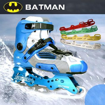 Batman Dark Knight gift Christmas 5 colors Roller Ice Skates Blade Batman Shoes Blade Multi Purpose Ball Blade Full Set multicolor AT_71_6