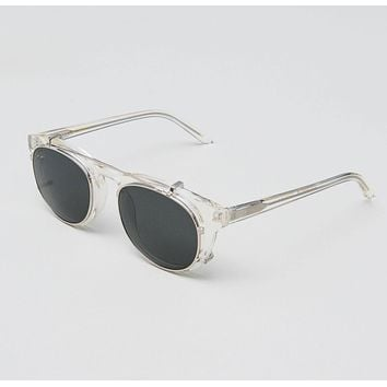Han Kjobenhavn - Timeless Clip On 50mm Champagne Sunglasses / Black Lenses