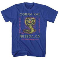 Mens Karate Kid Neon Cobra 2 Retro T-Shirt