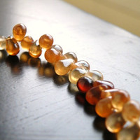 Hessonite Garnet Briolette AAA Rust Orange Smooth teardrop 7mm Full Strand Wholesale