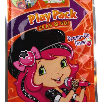 Strawberry Shorcake Diva Play Pack Grab Go Set 9 Coloring Book Crayons Stickers