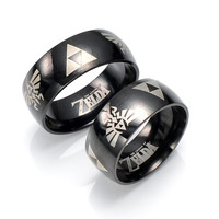 Hot Sell Kids Toys Cartoon Anime The Legend of Zelda Cosplay Action Figure Titanium Steel Ring