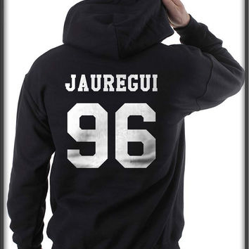 Jauregui 96 White ink printed on back Unisex Pullover Hoodie S to 3XL