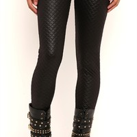 Shiny Quilted Leggings