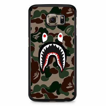 Bape Camo Shark Face Samsung Galaxy S6 Edge Plus Case