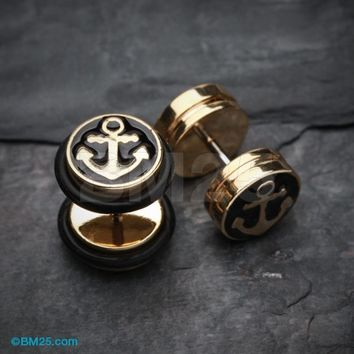 Golden Sailor Anchor Steel Fake Plug with O-Rings